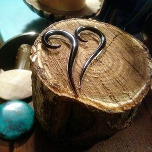 Sale Nwt Handmade Glass Swirlyhooks/Gages
